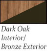 dark oak interior and bronze exterior Patio Doors