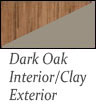 dark oak interior and clay exterior Patio Doors