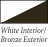 white interior and bronze exterior bow windows bay windows and garden windows