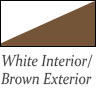white interior and brown exterior Patio Doors